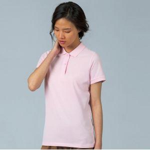 Polo inspire femme sans étiquette en coton bio, 170 g/m²