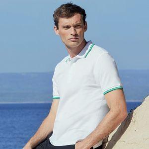 Polo en coton avec liseré pour un look sportif, 180 g/m²