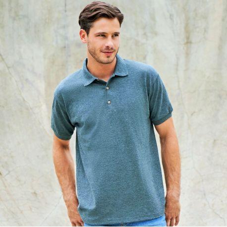 Polo uni homme manches courtes en coton, 220 g/m² pas cher