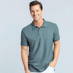 Polo homme premium en coton peigné, double piqué, 220 g/m²