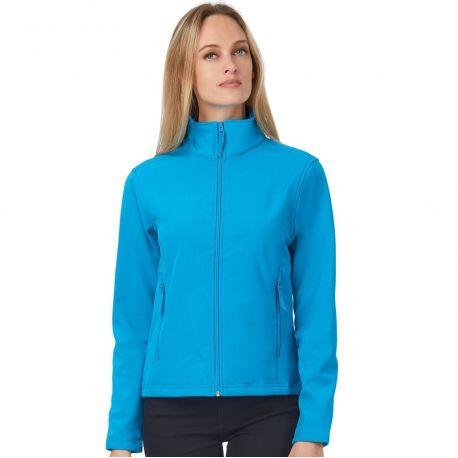 Veste softshell femme déperlante, intérieure micro-polaire, 300 g/m²