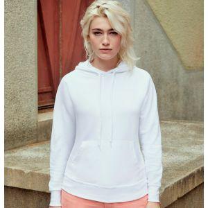 Sweat hoodie femme à capuche léger et pas cher en polycoton, 240 g/m²