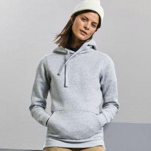 Sweat femme hoodie à capuche doublée, accès MP3, 280 g/m²