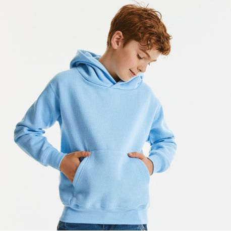 Sweat-shirt à capuche enfant moderne molletonné, 295 g/m²