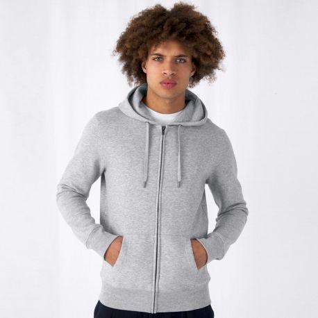 Sweat zippé KING à capuche pour homme, impression optimisée, 280 g/m²