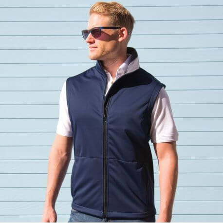Bodywarmer softshell léger et stretch, 290 g/m²