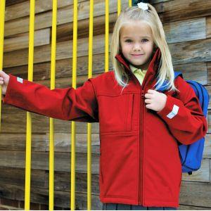 Veste softshell 3 couches enfant imperméable et coupe-vent, 320 g/m²