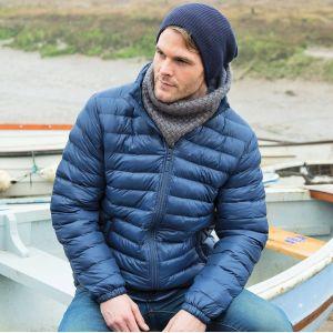 Veste doudoune tendance homme rembourrée, col montant, 300 g/m²