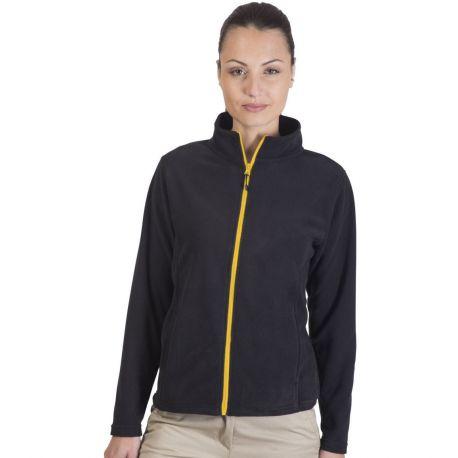 Veste micropolaire femme grand zip et poches latérales, 200 g/m²