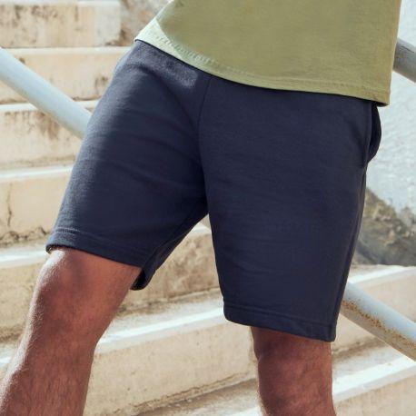 Short jogging adulte léger coupe droite lightweight, 240 g/m²