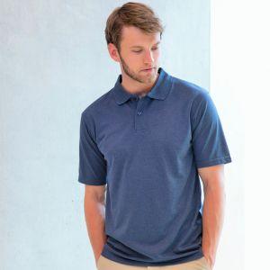 Polo homme manches courtes en polyester micro piqué respirant, 180 g/m²