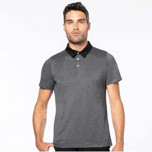 Polo jersey bicolore homme col chemise et manches courtes, 180 g/m²