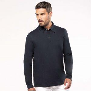 Polo jersey manches longues homme facile d'entretien, 180 g/m²