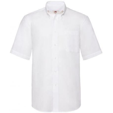 Chemise homme Oxford à manches courtes doux et confortable, 135 g/m²
