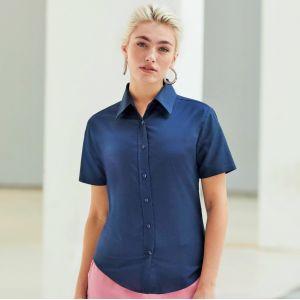 Chemise femme Oxford à manches courtes doux et confortable, 135 g/m²