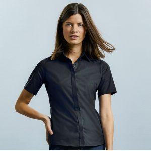Chemise femme Ultimate stretch ajustée manches courtes, 130 g/m²