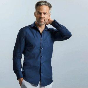 Chemise homme Ultimate stretch ajustée manches longues, 130 g/m²