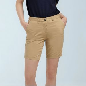 Short chino stretch femme sans pince, 220 g/m²