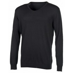 Pull col V homme 50% coton, 50% acrylique, 270 g/m²