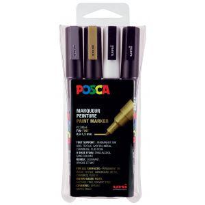 Set de 4 feutres indispensables POSCA pointe fine 0.9-1.3 mm conique