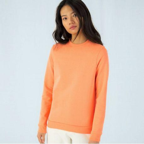Sweat shirt set-in femme NO LABEL doux et résistant, 280 g/m²