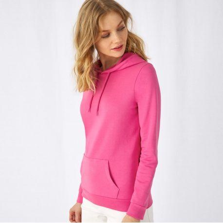 Sweat hoodie à capuche femme NO LABEL doux et résistant, 280 g/m²