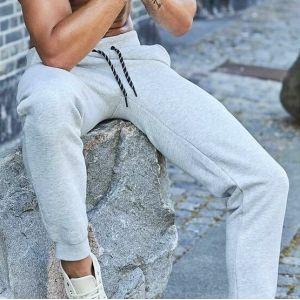 Pantalon jogging coton égyptien, ceinture et bas élastiqués, 310 g/m²