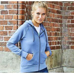 Sweat zip à capuche femme, doux grâce au coton égyptien, 310 g/m²