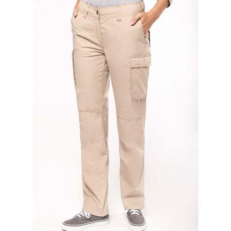 Pantalon léger multipoches pour femme léger et confortable, 140 g/m²
