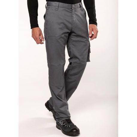 Pantalon de travail multipoches épais, souple et résistant, 255 g/m²