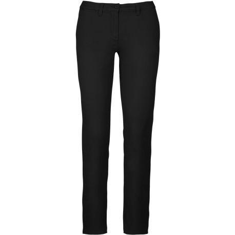 Pantalon chino femme moderne et légèrement stretch pour plus d'aisance