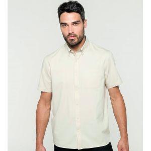 Chemise manches courtes décontractée en coton doux, 155 g/m²