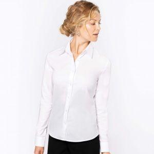 Chemise femme oxford manches longues facile d'entretien, 135 g/m²