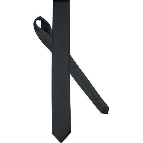 Cravate fine aspect satiné