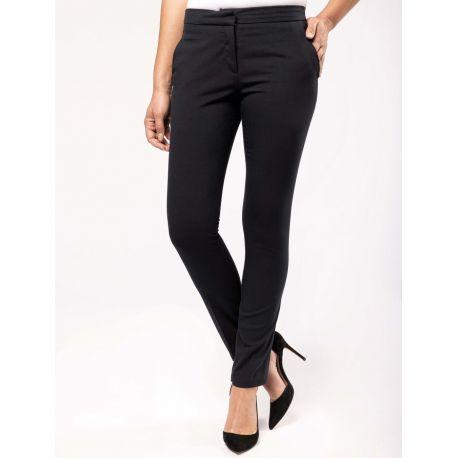 Pantalon femme coupe ajustée, 220 g/m²
