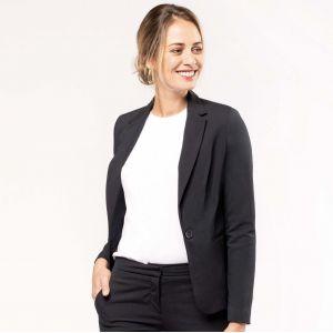 Veste de costume pour femme coupe ajustée, 220 g/m²