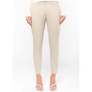 Pantalon chino premium femme 7/8ème en coton sergé, 245 g/m²
