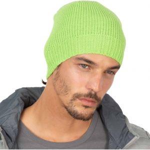 Bonnet tricoté avec bordure côtelée léger et isolant