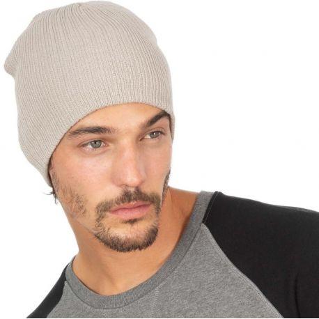 Bonnet tricot côtelé léger et isolant