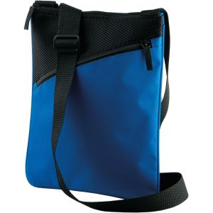 Sac bandoulière pour tablette ou documents, poche zippée à l'avant