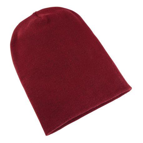 Bonnet long et épais en tricot super dense de haute qualité