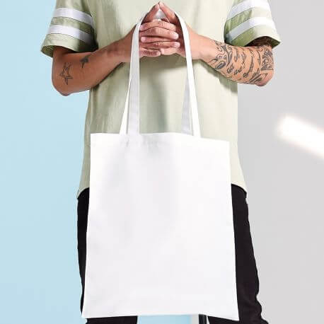 Sac shopping polyester spécial sublimation, anses longues