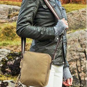 Mini sac reporter vintage en toile lavée, 3,5 litres