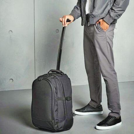 Valise à roulettes transformable en sac à dos, 28 litres