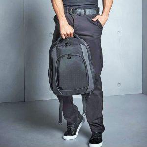 Sac à dos noir de travail, multi-poches et compartiments, 23 litres