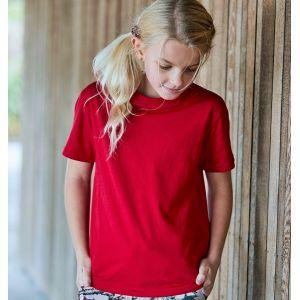 T-shirt enfant manches courtes en coton BIO super-peigné, 140 g/m²