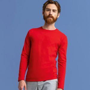 T-shirt iconic manches longues, coupe ajustée en coton doux, 150 g/m²