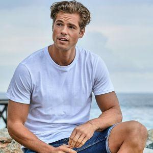 T-shirt manches courtes en coton BIO super-peigné, 140 g/m²