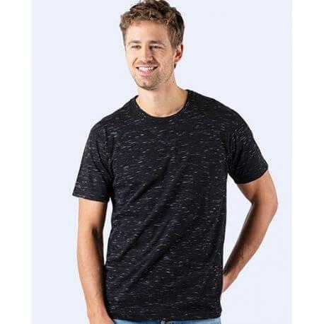T-shirt épais en coton col rond, manches courtes, 180 g/m²