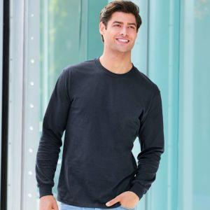 T-shirt Hammer manches longues épais en coton ringspun, 203 g/m²